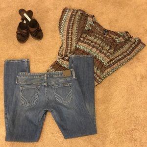 Armani Exchange Straight Leg Medium Wash Jeans